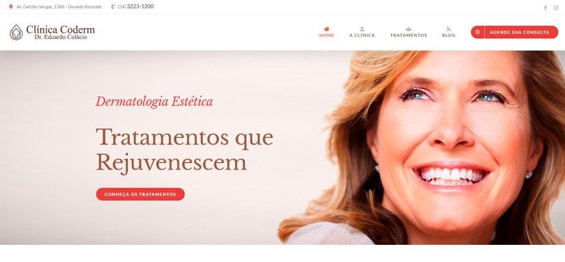 Clinica coderm inaugura novo site
